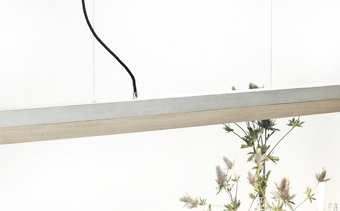 Slab Oak Pendant Light