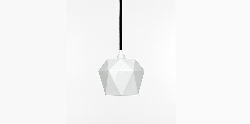 Concrete Lighting Diamond Porcelain Pendant Light